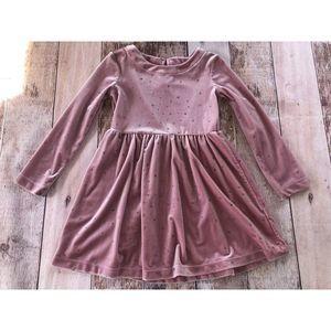 Gap Kids Factory Pink Velvet star Dress XS